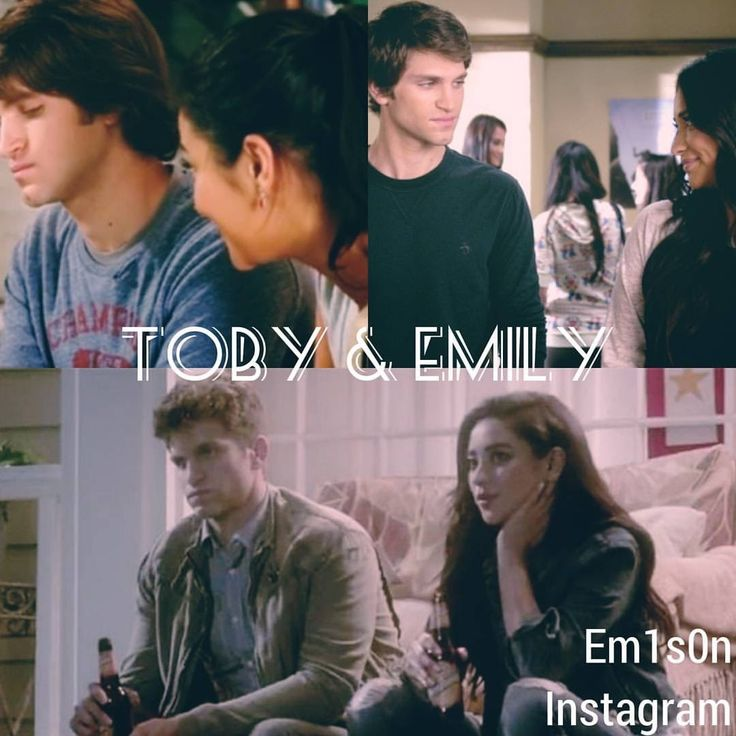 Toby and Emily- then and now. Pretty Little Liars.