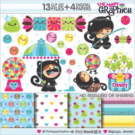Candy Clipart Candy Grafik kommerzielle von TheHappyGraphics