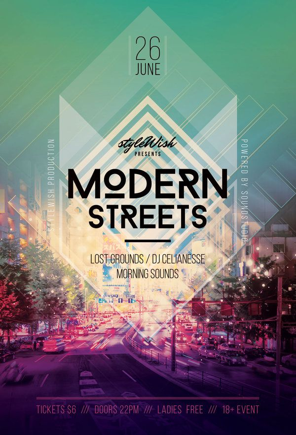 Modern Streets Flyer by styleWish (PSD template on Graphicriver)