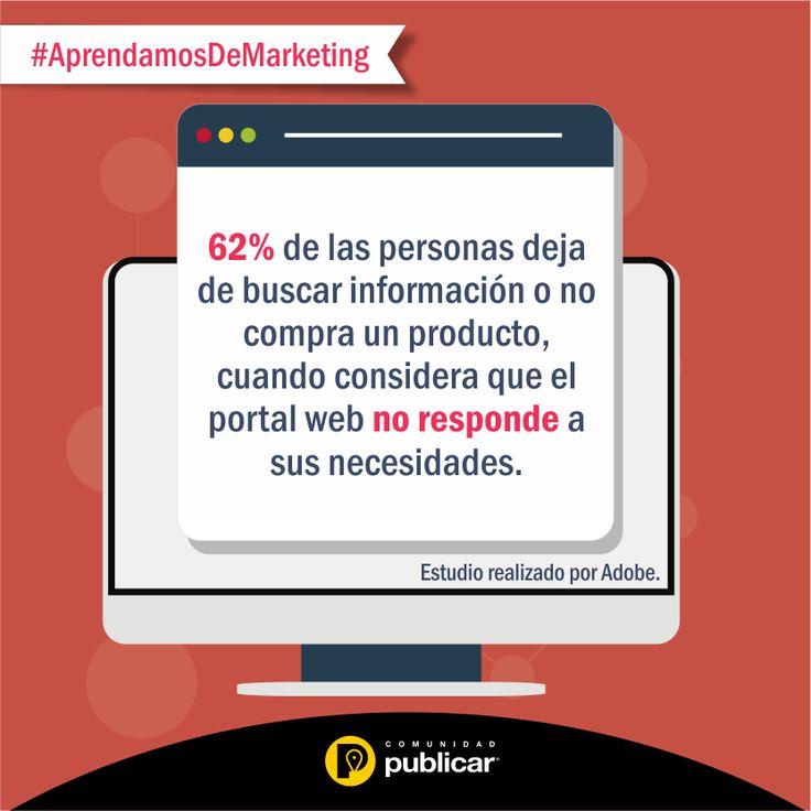 #AprendamosDeMarketing ¿Influye una página web en la decisión de compra?