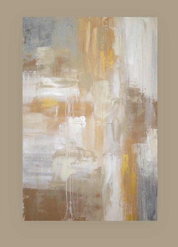 Il sagit dun dune peinture de qualité Galerie genre réalisée par lartiste acrylique Ora Birenbaum. Jai utilisé plusieurs nuances de taupe, sable, crème, camel et gris doux et agrémenté dun blanc éclatant et des touches dor, étain et argent métallique. Cest une combinaison parfaite de tonalités chaudes et froides et pourrait sinsérer dans nimporte quel type de décor. Cette peinture a texture et profondeur merveilleux. Côtés seront finies dans une taupe très doux. Pourrait être affiché...
