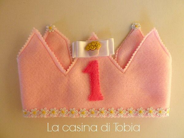 La Casina di Tobia: Coroncina baby compleanno con margherite per SOFIA...