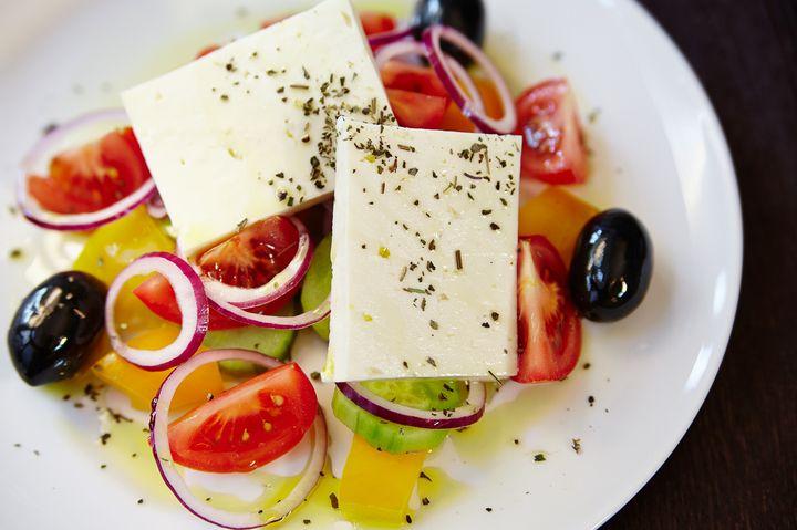 Салат в греческом стиле - пошаговый рецепт с фото - салат в греческом стиле - как готовить: ингредиенты, состав, время приготовления - Леди@...