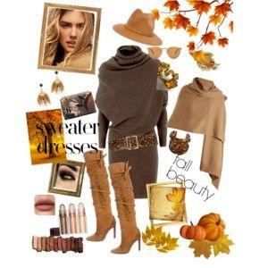 V podzimní náladě - styling v barvách pozdimu, hnědé a béžové.