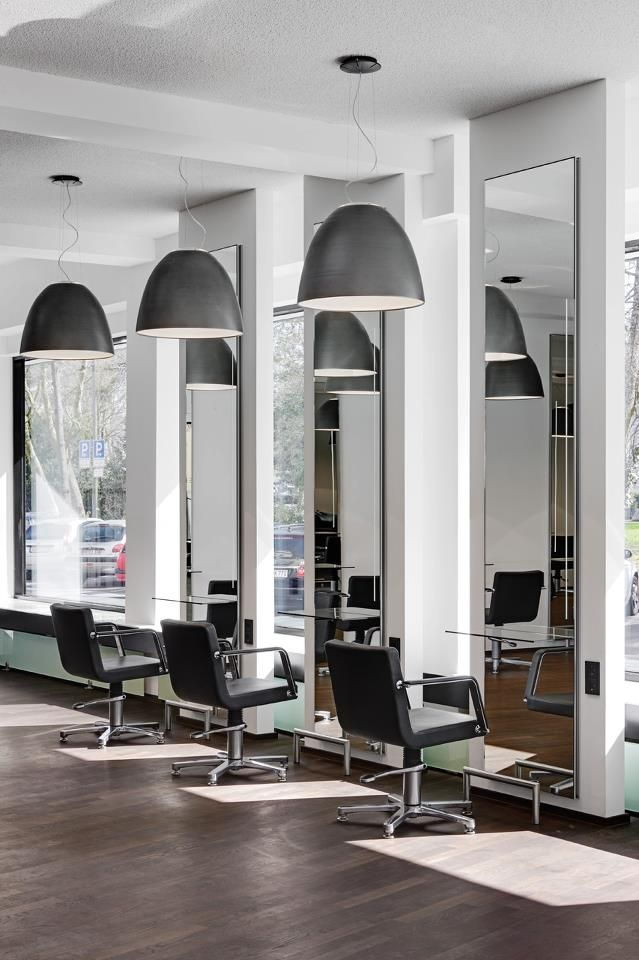 Pin by gitte rosengren on salon inspiration pinterest for Modern salon stations