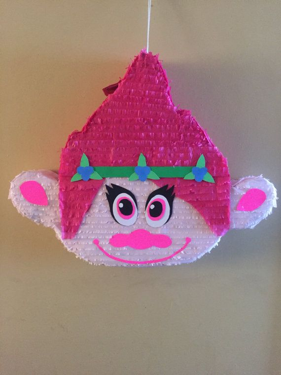 Piñata de película amapola Trolls por iPinata en Etsy