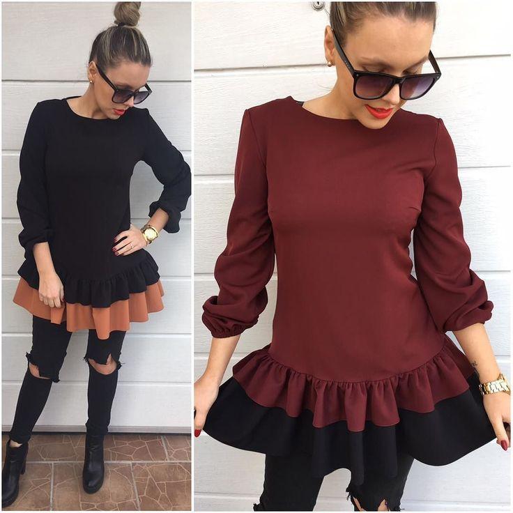 MEGA VÝPREDAJ kvalitnépohodlné šaty ale aj tunika Dostupné veľkosti: v čierno karamelovej kombinacii -S- voľný strih  a v bordovej farbe veľkosť M VÝPREDAJOVA CENA 23