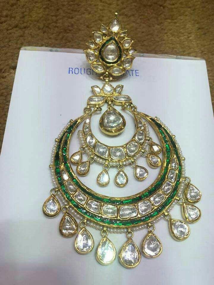 Polki Jadai Earrings Rajputi Jewellery Jewellery Sketches