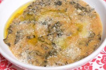 Minestra di cavolo nero con farina di mais