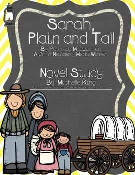 Sarah, Plain and Tall is a winner of the Newbery Medal. It is a great story to accompany any literature or social studies unit about pioneers and settlers. This packet was created in order to be used as a guided reading book or a read aloud. There are student pages with answer
