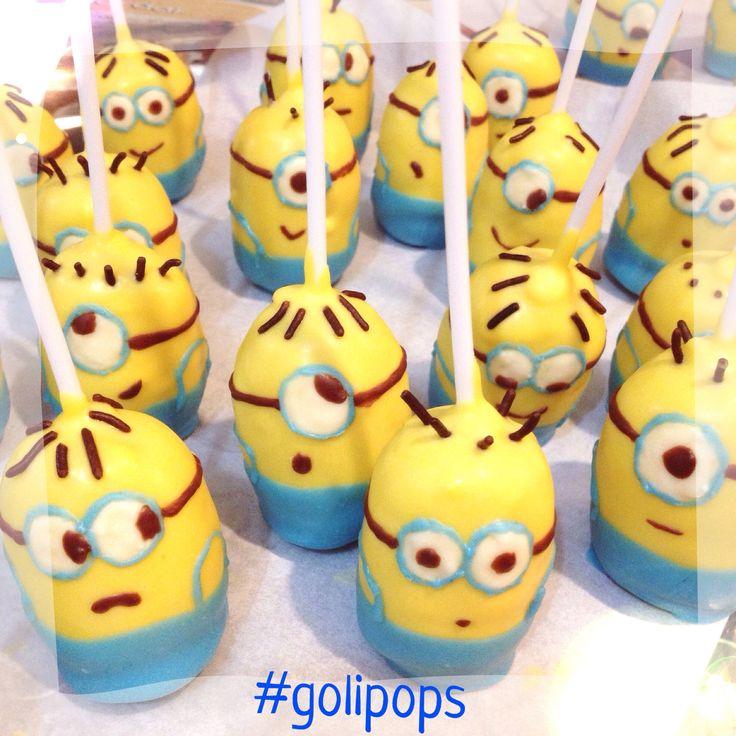 Minion cakepops #golipops Party food www.fb.com/cocinaGoligo