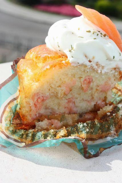 mis recetas dulces y saladas: cupcakes de salmón ahumado, parmesano y crema de queso