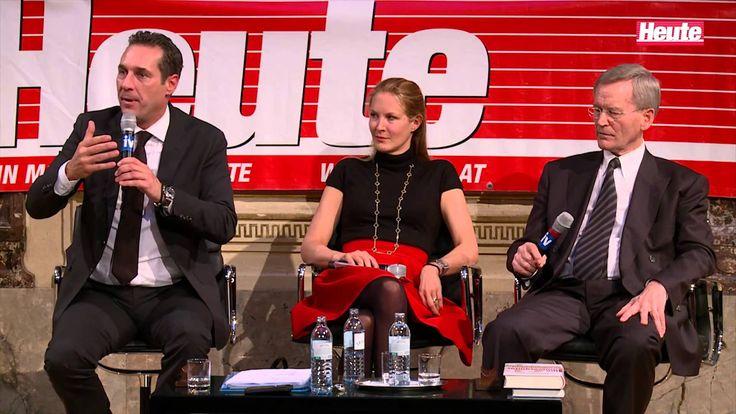 """""""Heute"""" Podiums-Talk mit FPÖ-Chef H. C. Strache, Karl Albrecht Schachtsc..."""
