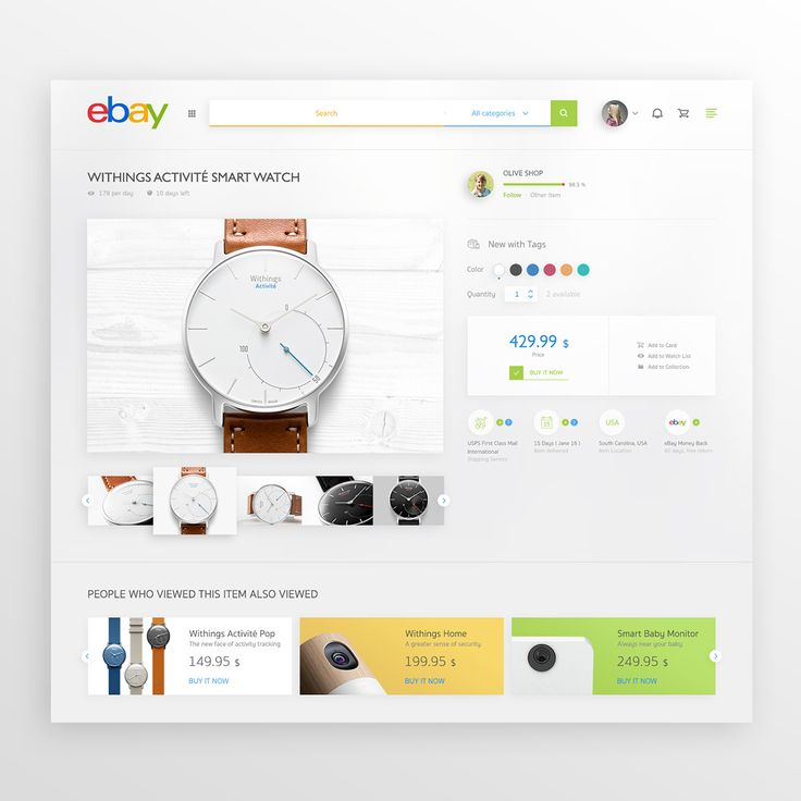 Ebay Redesign on Behance
