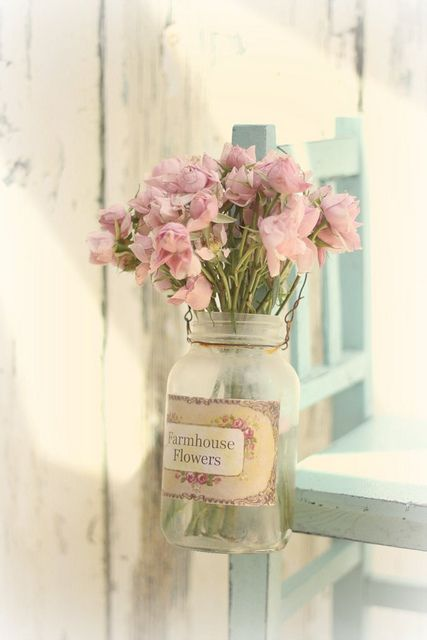 Farmhouse Flowers by lucia and mapp, via Flickr