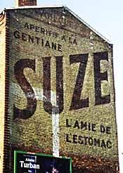 Old painted Roadside advertisements