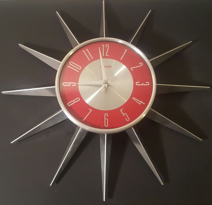 17 Best images about 50's/60's ... clocks design space ...