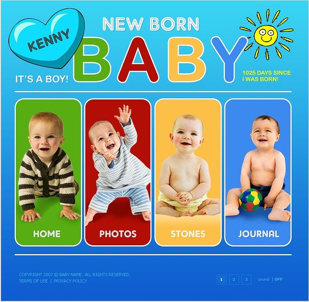 Baby Infant Flash Templates by Delta
