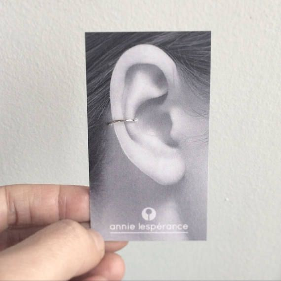 Ear cuff en argent sterling  oreilles non percées  faux