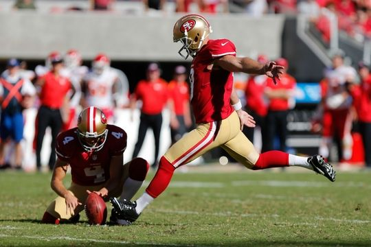 San Francisco 49ers kicker Phil Dawson,  punter Andy Lee