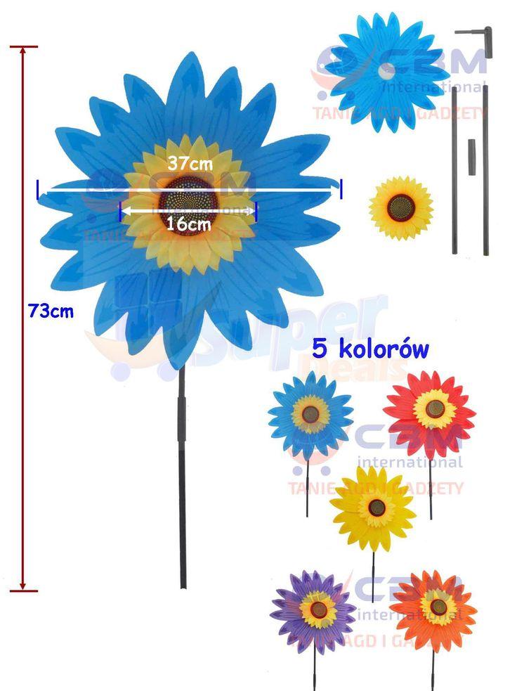 Wiatrak, wiatraczek ogrodowy - 37cm