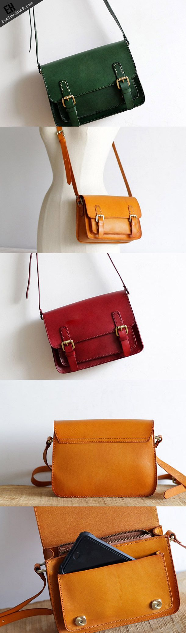 Handmade Leather satchel bag for women leather shoulder bag