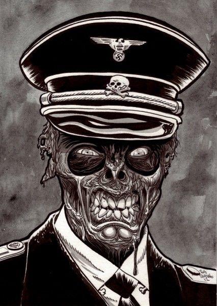 Zombie Nazi : Pure Evil Zombie Art - Rob Sacchetto's Zombie Portraits