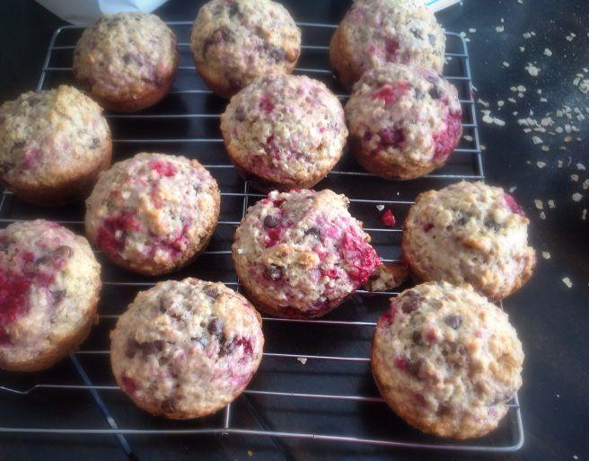 Muffins framboises et chocolat | Confidences d'une nutritionniste
