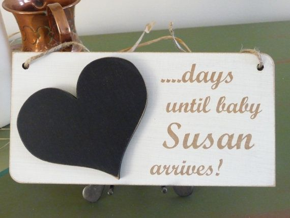 Hey, I found this really awesome Etsy listing at https://www.etsy.com/listing/225842251/personalised-baby-countdown-sign-custom