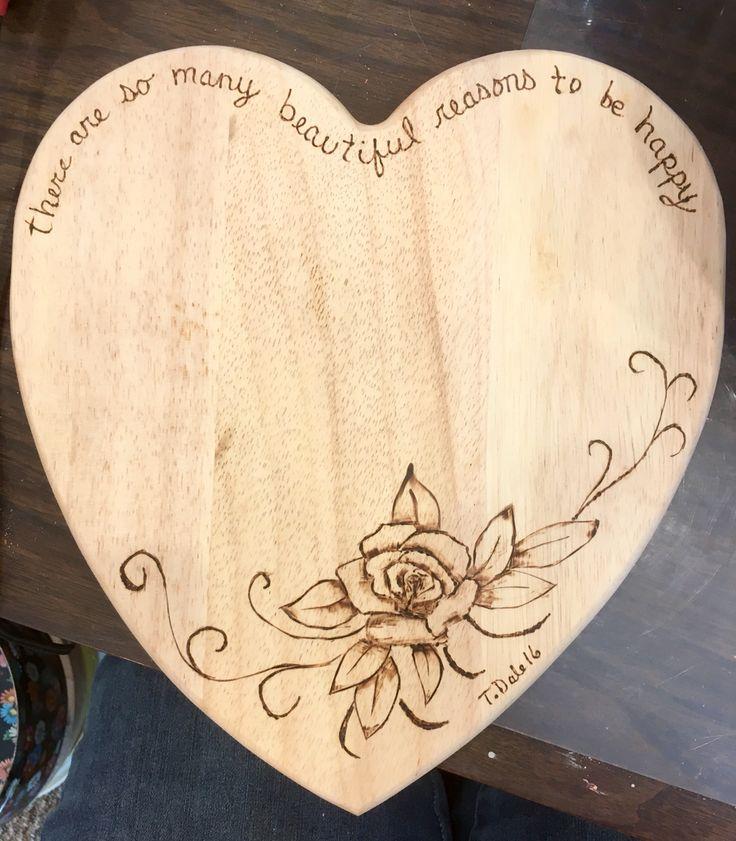 Pryrography cutting board. Wood burning