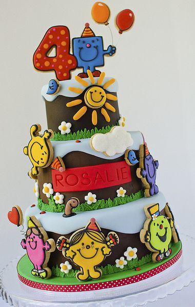Mr Men Birthday Cake