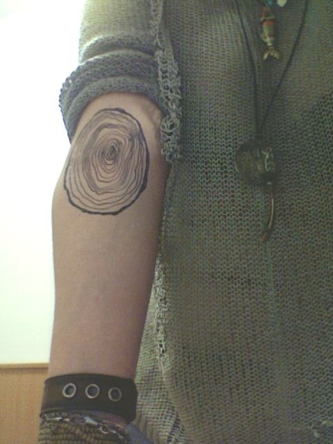 Tree ring tattoo. It would be cool to get this for each year you've been alive & continue adding to it every birthday