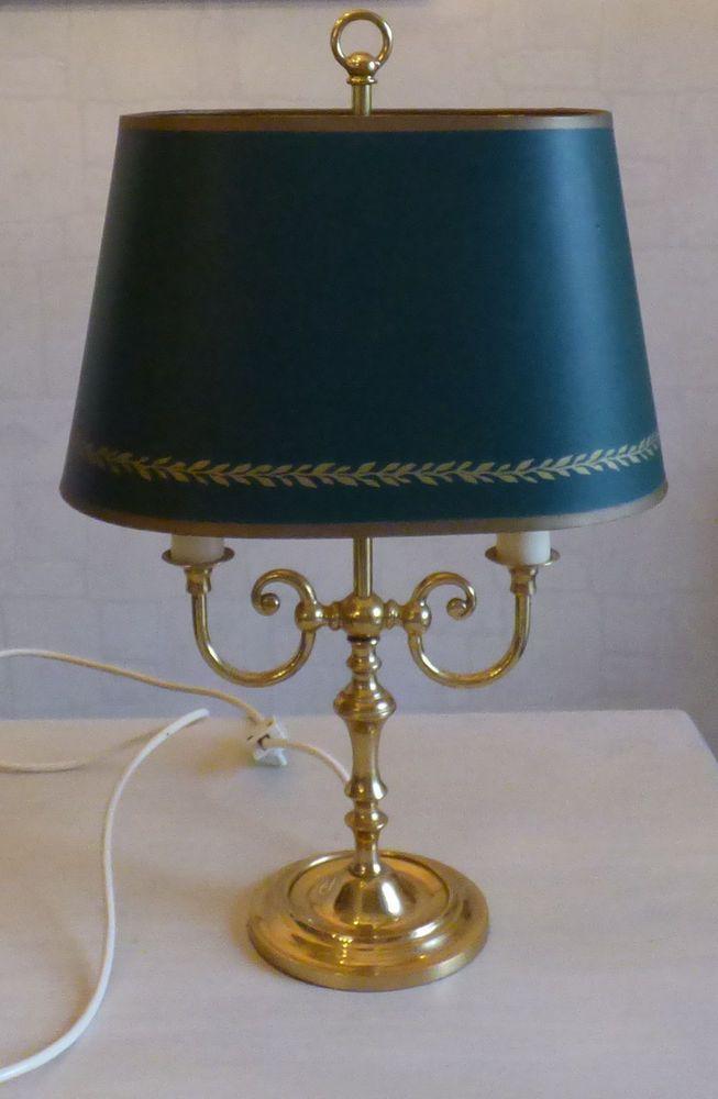 Empire Stil Bouillotte Alte Franzosische Lampe Tischlampe 2 Flammig Messing Lampe Tischlampen Messing