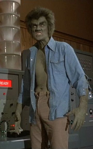 Dick Durock as Frye's Creature from the two part episode THE FIRST. This was meant to be an older Hulk, who was transformed many years before David Banner first became the Hulk.