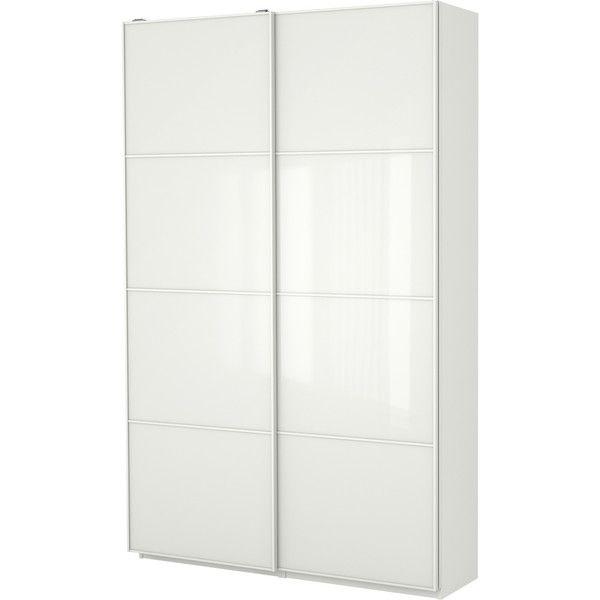 IKEA PAX Wardrobe with interior organizers, white, Färvik white glass
