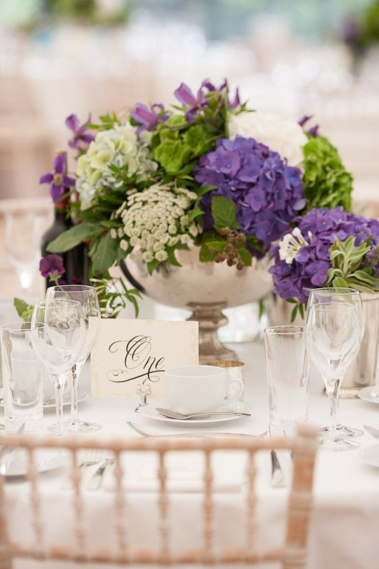 An elegant wedding breakfast table layout idea