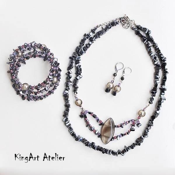 """Queen of the night"" handmade set by KingArt Atelier"