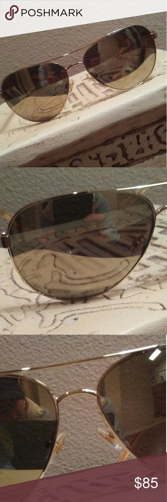 "Kate Spade ""Blossom"" Gold Aviator Sunglasses NWT! Brand-new, unopened, with original tags. 100% authentic Kate Spade New York shades! These are the Blossom in gold frames with gold mirrored lenses. Super amazing! Perfect for this Spring and Summer fashion! Medium size. Comes with the ks teal case shown here. Ret. $95+ tax. Comes from a smoke-free and pet-free home. kate spade Accessories Glasses"