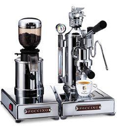 Arte di POCCINO Bar  Espressomaschine mit manueller Hebeltechnik – mit passender Espresso-Mühle als komplette Espresso-Bar zum günstigen Set-Preis.