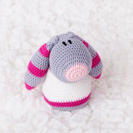Fanni, horgolt figura - rózsaszín