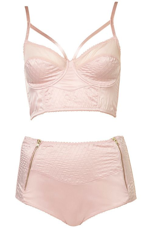 Pretty pink lingerie set from Topshop