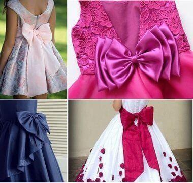 Patrón de lazo para vestidos de niña - Patrones gratis