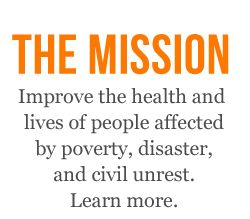 """""""100% Efficient"""" - Forbes. Rated among the top 20 most effective U.S. based charities. Direct Relief International~Mission"""
