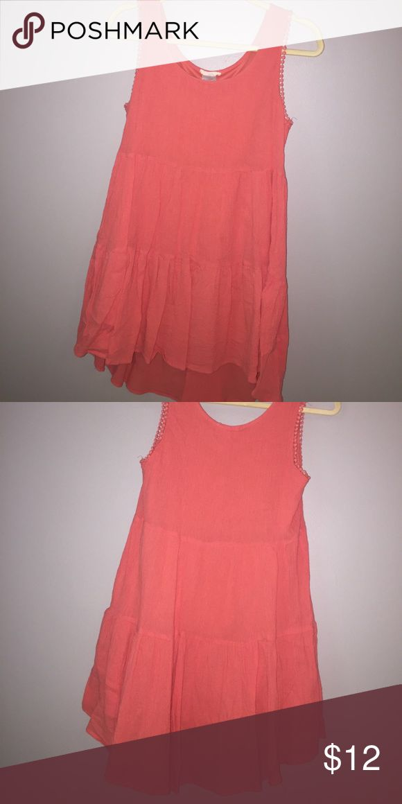 Orange sun dress Flowy orange sundress. Longer in back so appropriate length for many occasions. Orange/red. Love this for country concert Dresses Mini