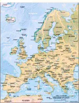 Europe Maps For Kids