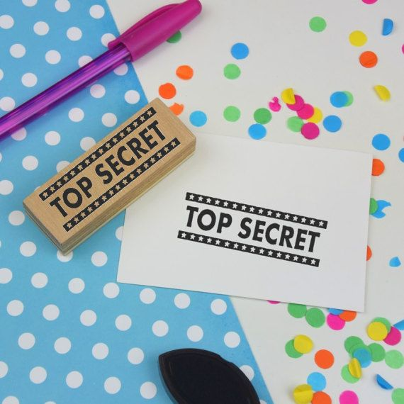 Top Secret Rubber Stamp Bullet Journal Diary Packaging Stamp Classified Secret Confidential Happy Mail Stamp Happy Mail Office Stamps