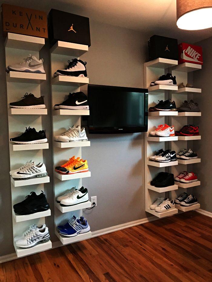 ▷ 1001 + idées pour aménager un dressing à chaussures