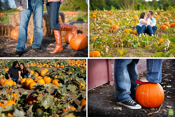 Pumpkin Patch Engagement Photos