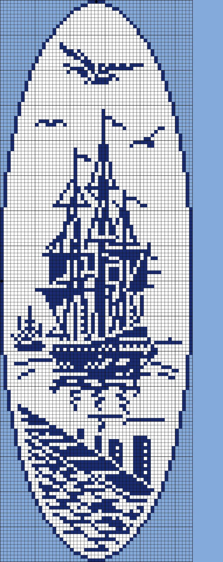 Cross Stitch - Ship.