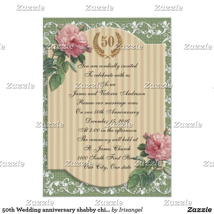 Best Th Wedding Anniversary Invitations Customized Images